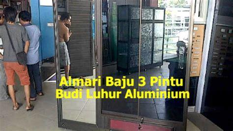 Lemari Kaca Aluminium almari baju aluminium