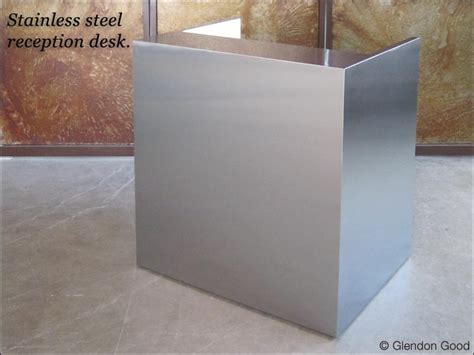 steel reception desk stainless steel reception desk glendon