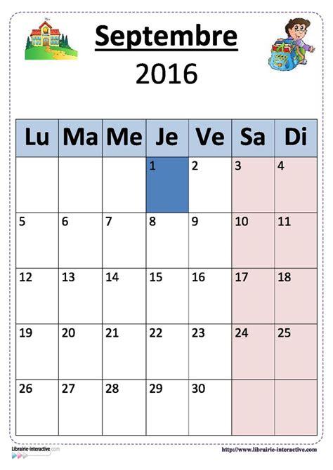 Calendrier Septembre 2017 Maternelle 1000 Id 233 Es Sur Le Th 232 Me Calendrier 2016 2017 Sur
