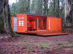 little cargo container in the big woods this cargotecture