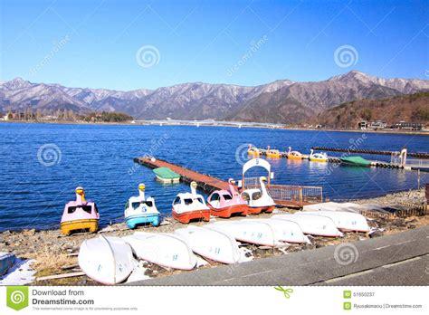 swan boats kawaguchi swan boat in kawaguchi lake stock photo image 51650237