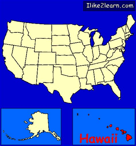 map of united states with hawaii hawaii