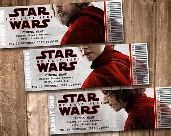 printable star wars movie tickets appacadappa on etsy handmade hunt