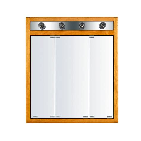 Recessed Medicine Cabinet With Lights Shop Kraftmaid Formal 29 6875 In X 33 75 In Honey Spice