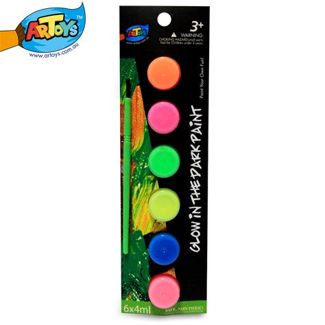 glow in the paint non toxic artoys watercolor glow in the paint 6 color high