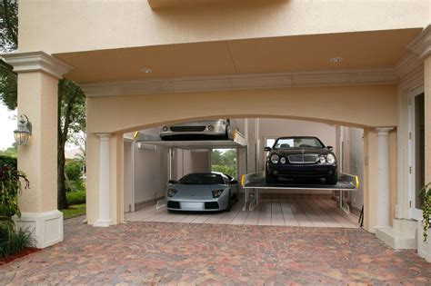 brick garages designs modern garage with brick floors by innovative designs