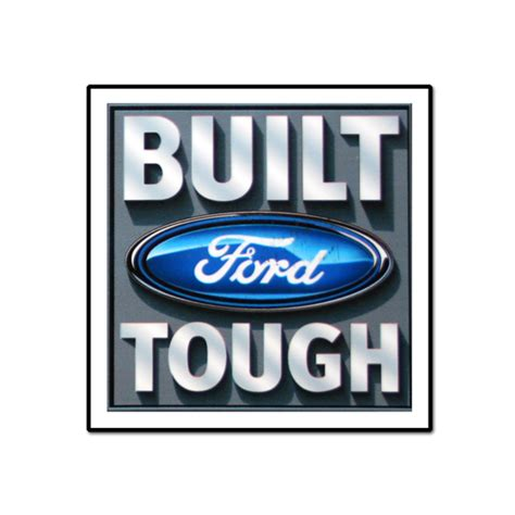 Built Ford Tough Logo by Built Ford Tough 4 Quot Decal Speedway World