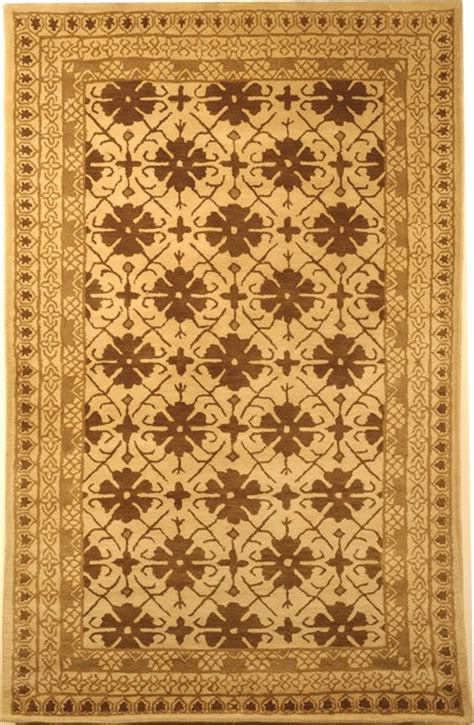Yellow And Brown Area Rugs Classic Yellow Brown Area Rug Cl303t Traditional Rugs By Zopalo