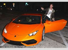 Tom Felton shows off his Lamborghini on date night with ... Lamborghini Aventador Orange