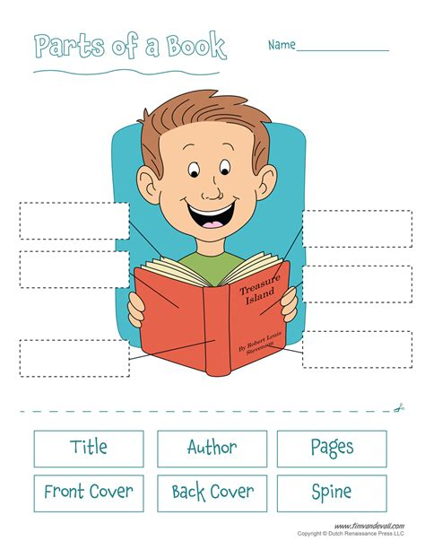 Parts Of A Book Worksheet by Parts Of A Book Worksheet Tim De Vall
