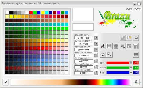 html color picker brazucolor color picker version 2016 free