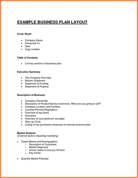 sle business proposal document free sle