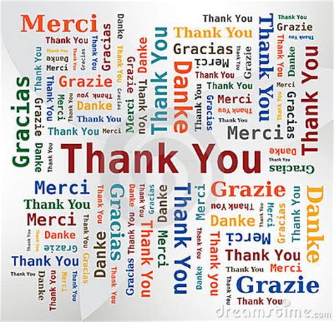 Thank You Letter To In German Word Cloud Thank You In 5 Languages Stock Images Image