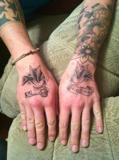 swallow tattoo on each hand hand swallow tattoos by malitia tattoo89 on deviantart