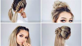 easy hairdo quick and easy hairstyles youtube
