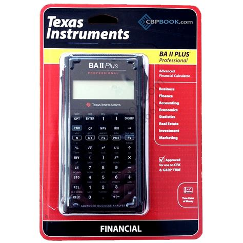 Mba Financial Calculator by Instruments Advanced Financial Calculator Ba Ii Plus