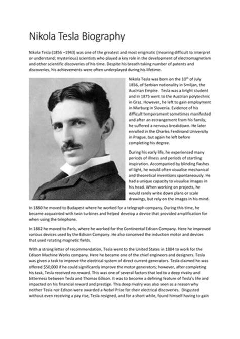 best biography nikola tesla nikola tesla word search by sfy773 uk teaching resources