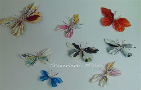 imagenes de mariposas hechas de papel manualidades herme hacer mariposas con papel de revista
