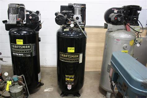 craftsman model   gallon tank mounted air compressor  psi  hp  volt
