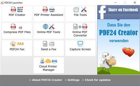 pdf creator pdf24 creator the free and easy to use pdf creator