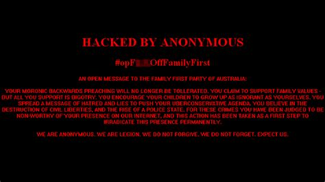 Has Posted A Message On Websit by Hackers Claiming To Be Anonymous Strike Family