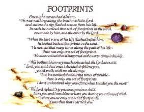 Footprints In The Sand Poem Printable Version » Home Design 2017