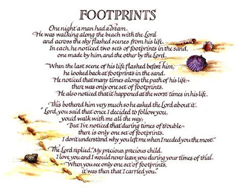 printable version of footprints poem footprints in the sand poem printable version www