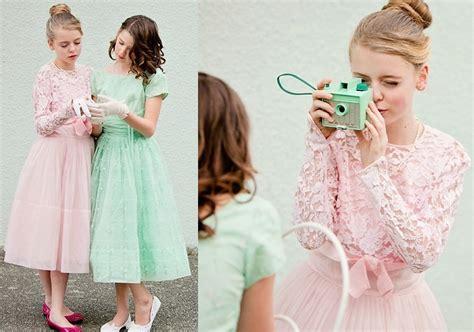 vintage pastels bridesmaid dresses easter wedding inspiration