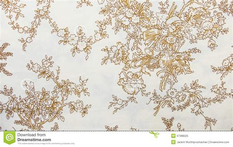 retro lace floral seamless pattern sepia brown fabric