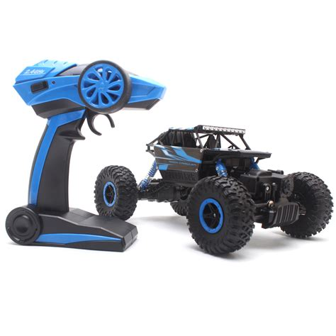 Rc Offroad Bigfoot Climber 4wd Rock Crawler 2 4 Ghz Biru 4wd rc truck road vehicle 2 4g remote