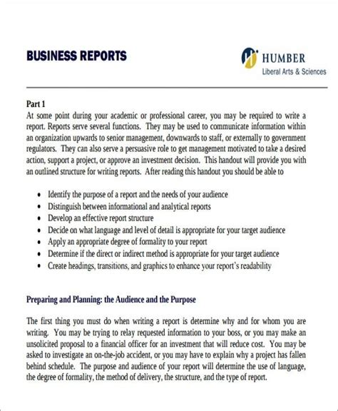writing a business report template formal business report template gratitude41117
