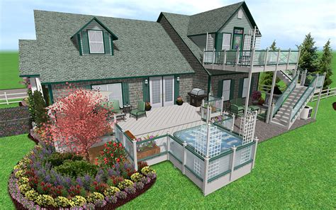 design your own home to build landscaping software features