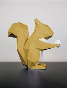 3d Origami Squirrel - she walked towards the paper wolf as the howl of the