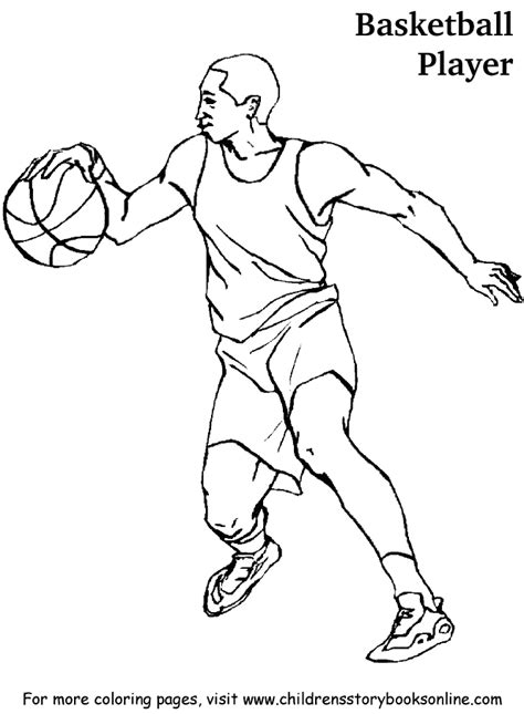 basketball player coloring pages coloring home
