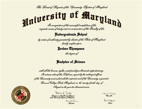 Cost Of Md Mba Program by Of Maryland College Park Masterpiece Medallion