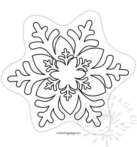 snowflake card template winter coloring page