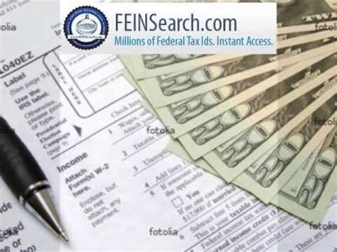 Fein Lookup Federal Tax Id Search Experts Employer Identification Number