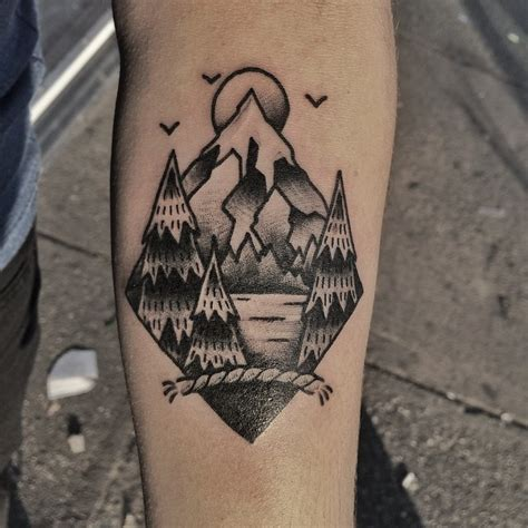 traditional mountain tattoo 80 best mountain designs meanings for all ages