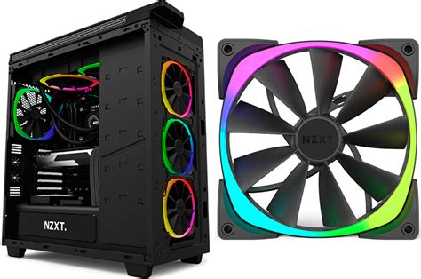Nzxt Unveils Fully Customizable Aer Rgb Led Fans