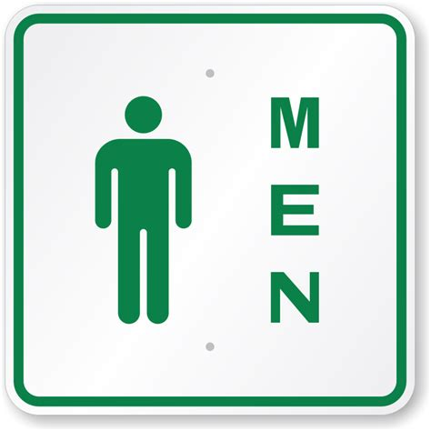 signs for bathroom mens restroom signs