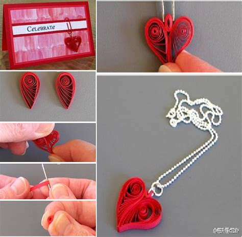 paper quilling project tutorial diy quilling heart shaped decoration diy tutorial
