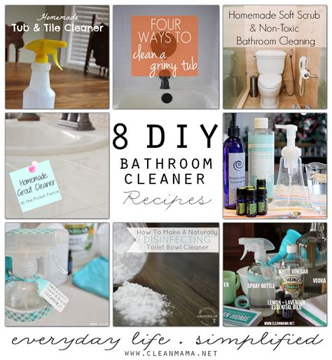 homemade natural bathroom cleaner 8 diy bathroom cleaner recipes via clean mama