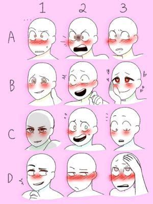 blushing expression references expression memes