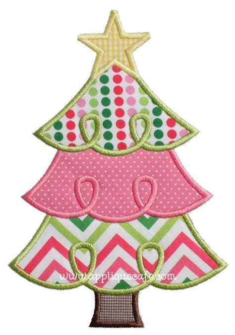 loopy christmas tree 2 applique design applique cafe