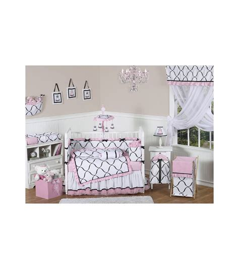 Black And Pink Crib Bedding Sets Sweet Jojo Designs Princess Black White Pink 9 Crib Bedding Set