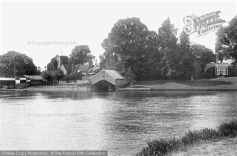 River Thames Map Shepperton | shepperton river thames and st nicholas church 1899