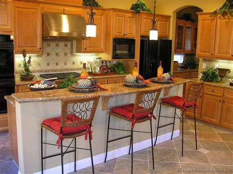 kitchen designs with islands and bars pictures of kitchens traditional light wood kitchen