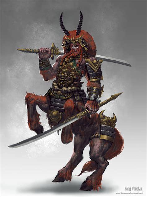 interesting concept centaur warrior by fangwangllin on deviantart