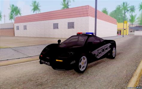 police mclaren mclaren f1 police edition for gta san andreas