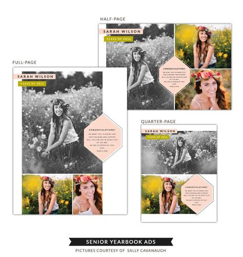 yearbook templates for photoshop senior yearbook ads boho style products senior ads